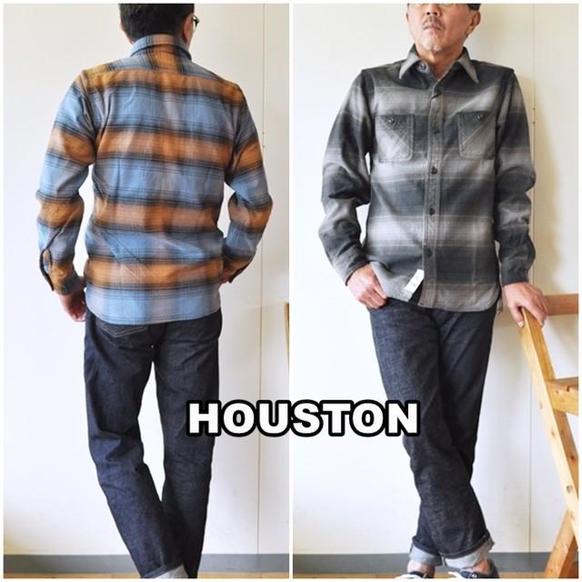 HOUSTON  ヒューストン  40872  CHECK VIYELLA SHIRT  チェックビエラシャツ オンブレネルシャツ チェックシャツ
