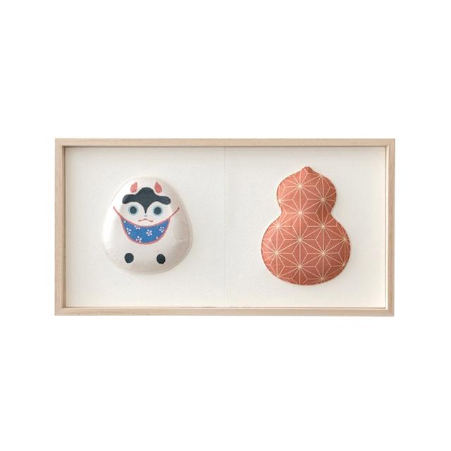 2種飾り04(貼り子犬・瓢箪 麻の葉)F02-004