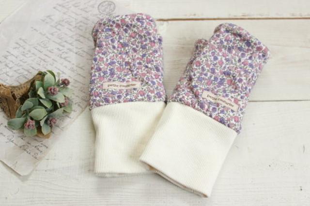 指なし手袋*ハンドウォーマー 花柄/Hippo 型番:Hip-018