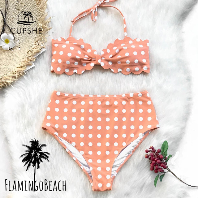 【FlamingoBeach】dot high west bikini ビキニ