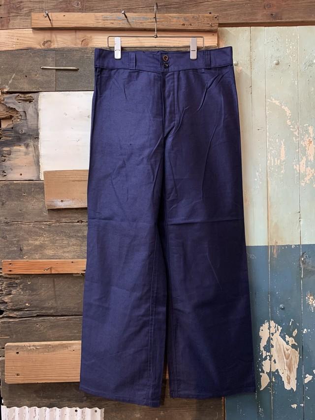 60-70's Italian navy trousers deadstock