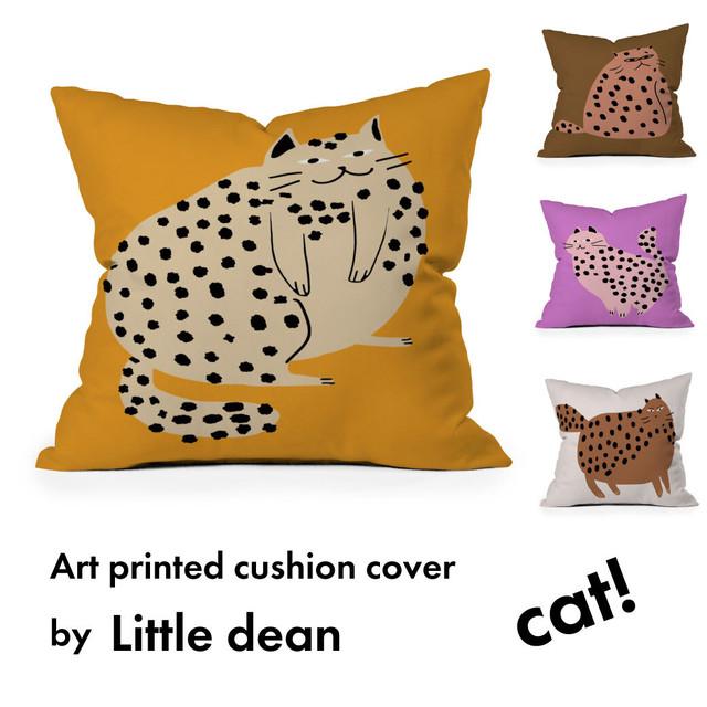 アートプリントクッションカバー  by Little dean-cat /猫【受注オーダー制: 8月中旬入荷分 受付中】