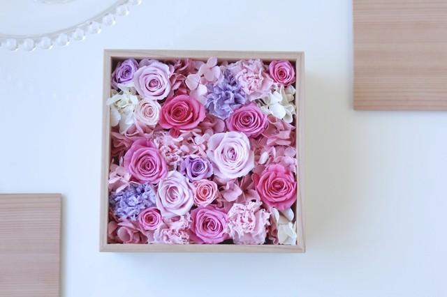 令和元年の贈り物・秋田杉箱花16 -pink-