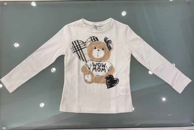 ELSY  くまさんTシャツ(ホワイト) 4才(100)~8才(130㎝) エルシー