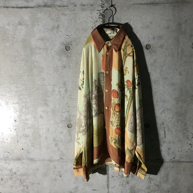 [used] elegant flower designed shirt