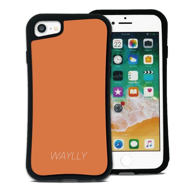スモールロゴ オレンジ セット WAYLLY(ウェイリー) iPhone 11 pro max iPhone 8 7 XR XS X 6s 6 Plus XsMax対応!_MK_
