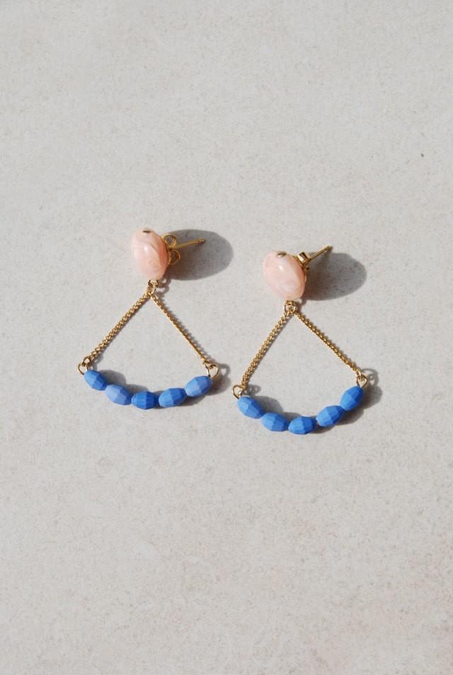ピアス: Italian Beads 「気球に乗ってどこまでも」