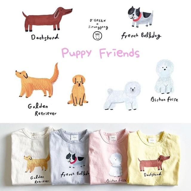 «予約» digreen x sinunggong Puppy T-shirt ワンちゃんTシャツ