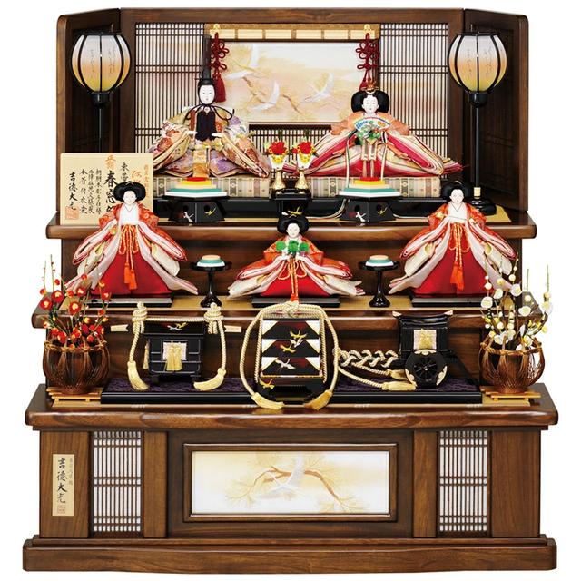 久月 雛人形 小三五親王飾り 212031-14