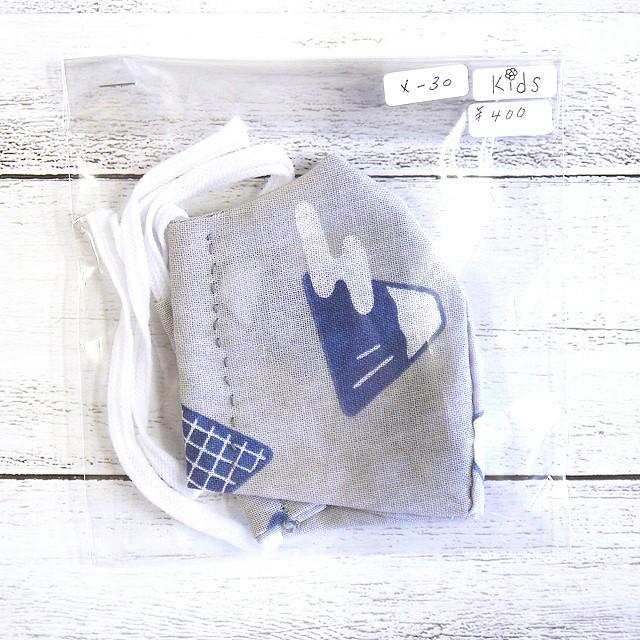 【アトリエ兎々 AKO】立体布マスク(チェック)・大人用サイズ/マスク