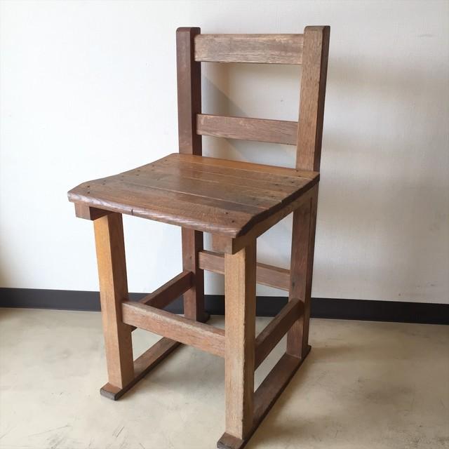 中学校の椅子