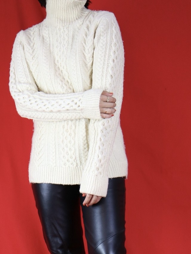 high neck fisherman knit 【0576】