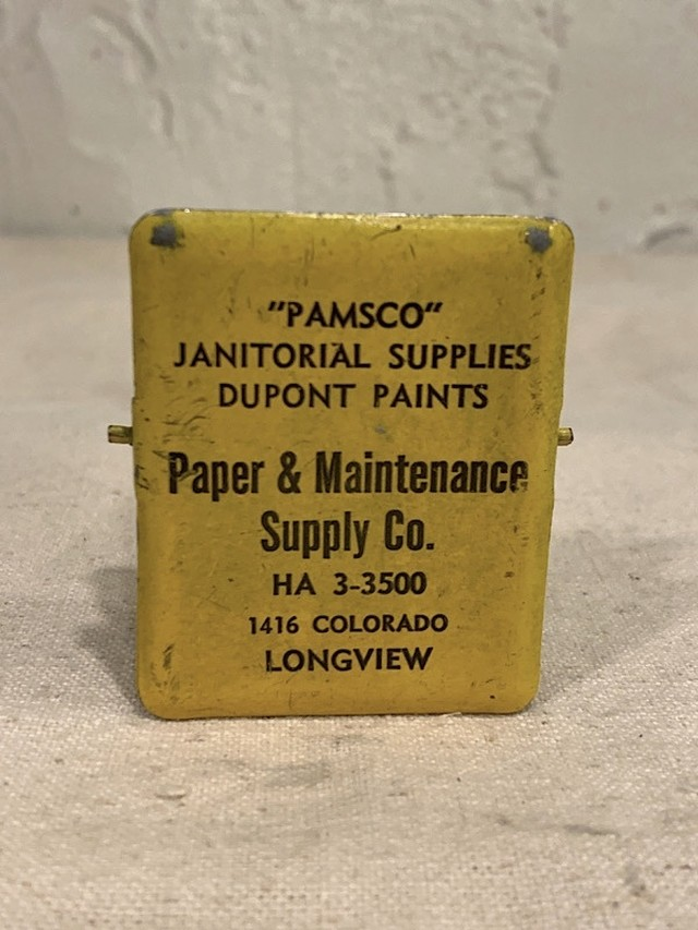 "ADVERTISING MEMO CLIP "" PAPER & MAINTENANCE SUPPLY CO. """