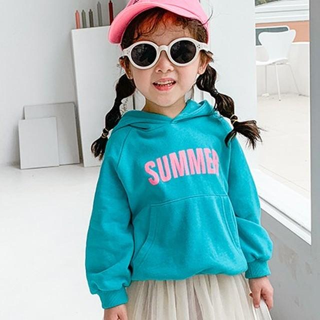 【トップス】大人気韓国女の子長袖プリントキーズポリエステルスウェット·パーカー24652356