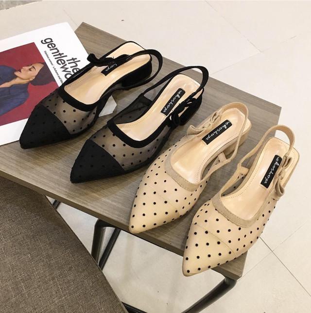 rétro sheer shoes 2color
