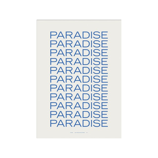 PLTY - Poster - Weightless - Paradise - A3size