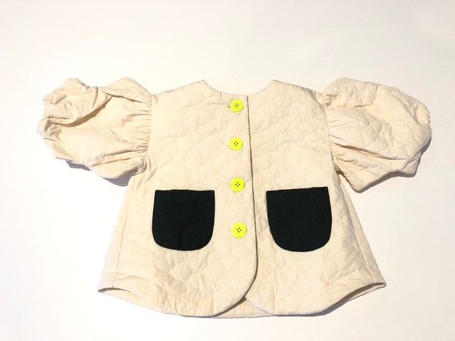 【20AW】フランキーグロウ ( frankygrow )BEAR QUILTING WAVE CUT SLEEVES JACKET[ S / M / L ]pinkアウター ジャケット