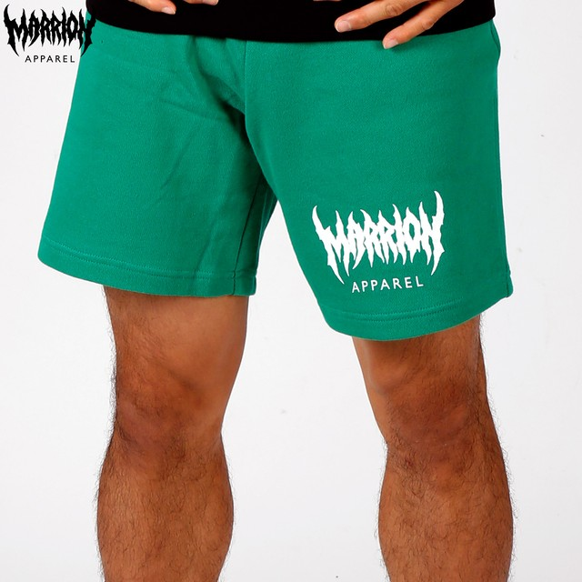 MARRION APPAREL LOGO SWEAT SHORTS (Green)