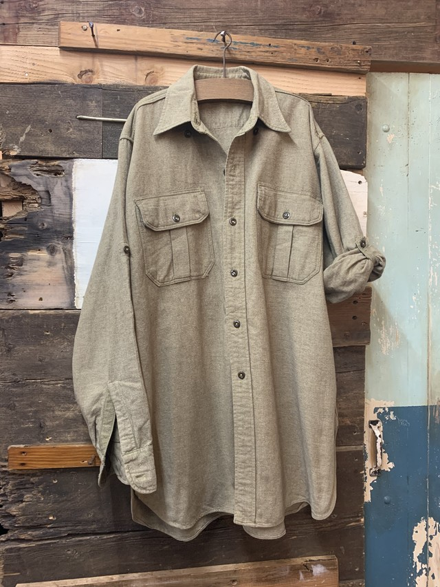 60's Lee half zip hickory stripe work shirt
