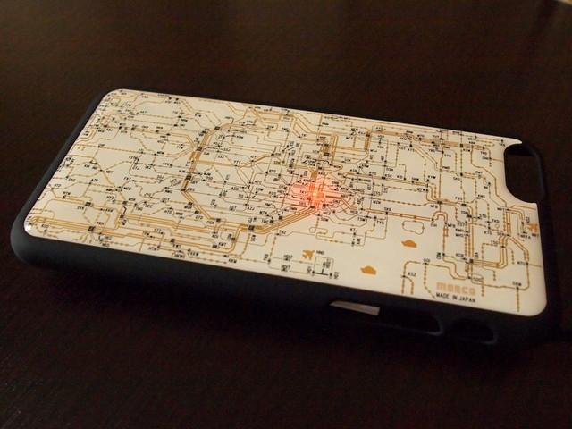 FLASH 東京回路線図 iPhone6/6s  ケース  白 【東京回路線図A5クリアファイルをプレゼント】