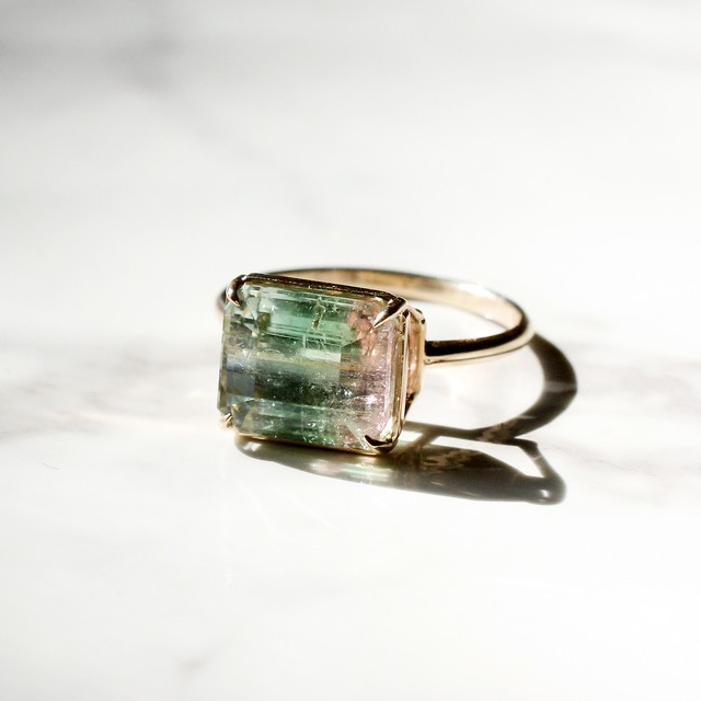By color tourmaline  ring  / K10