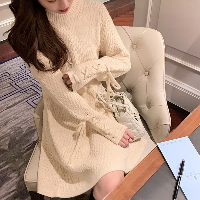 【送料無料】褒められワンピ♡スタイルアップ 可愛い モテ服 女っぽ デート 女子会 編み上げ