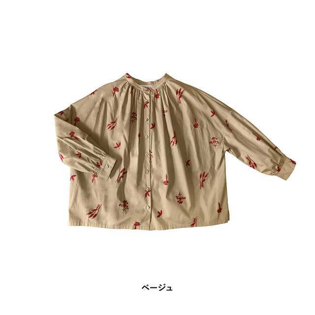 atelier naruse cotton ~winter plants~ blouse