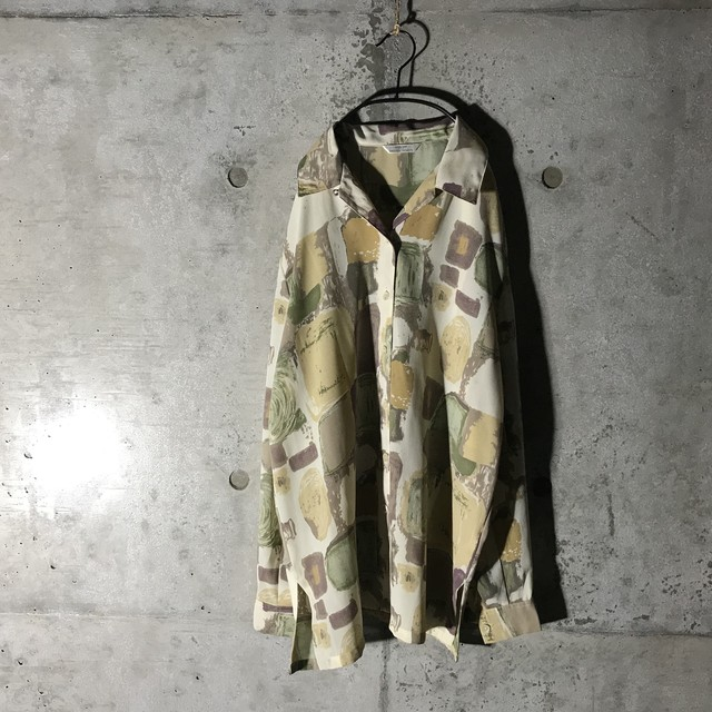 [used]cream colour artistic shirt