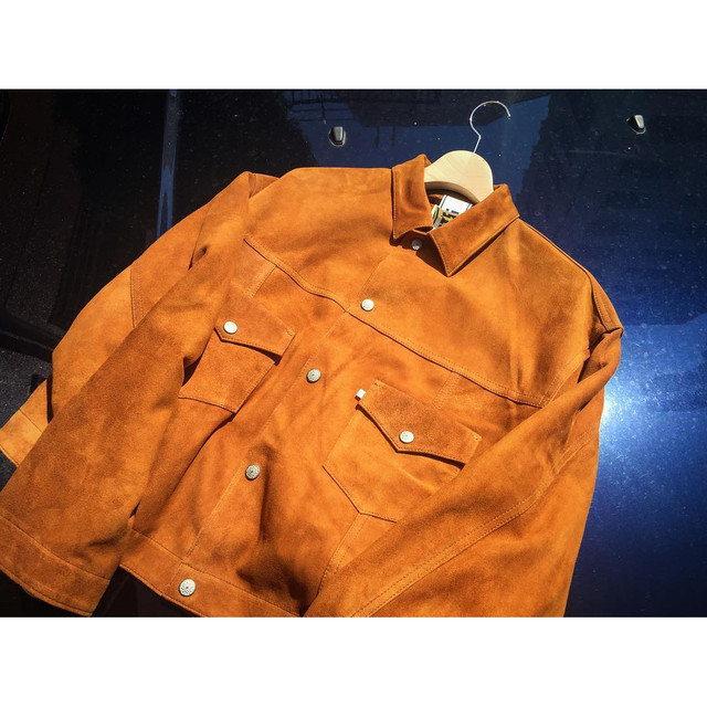 WEST OVERALLS Suede Tracker Jacket Brown 17AWBZ88S