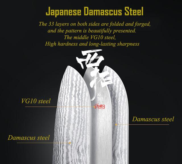 XITUO 三徳包丁 刃渡り18cm VG10 ks20032903