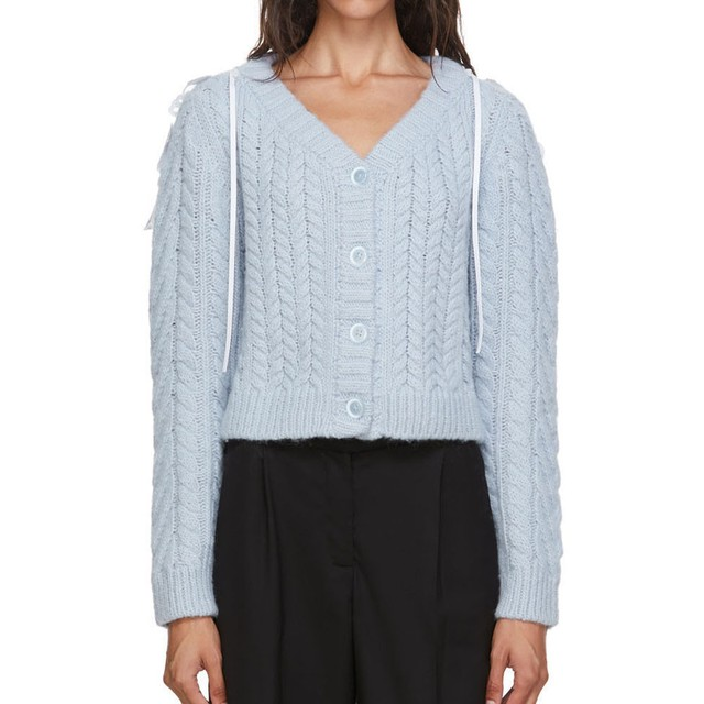 CECILIE BAHNSEN   CARDIGAN LIGHT BLUE