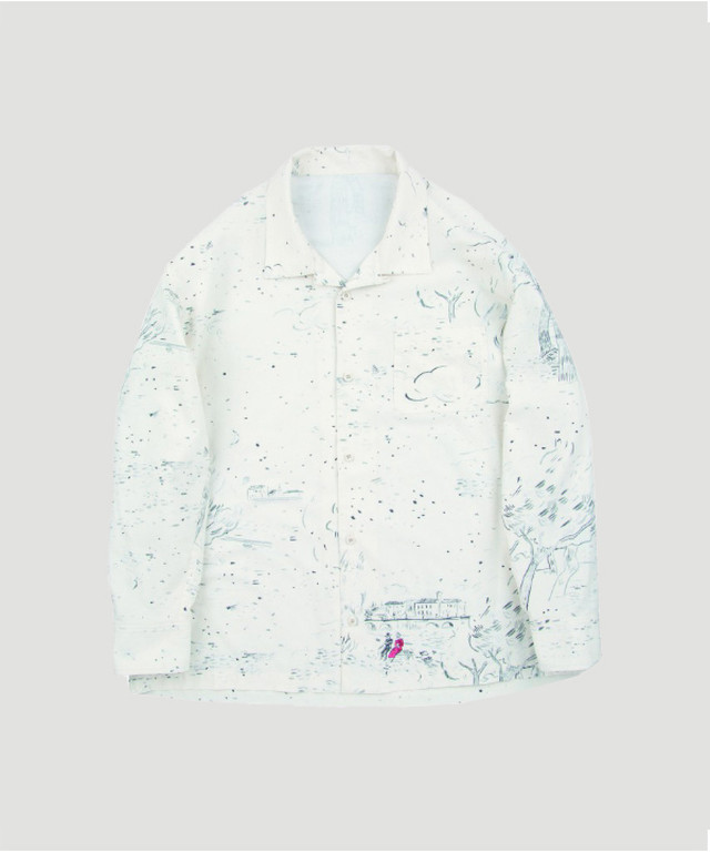 PORTER CLASSIC Aloha Long Shirt Django White PC-024-1183-90