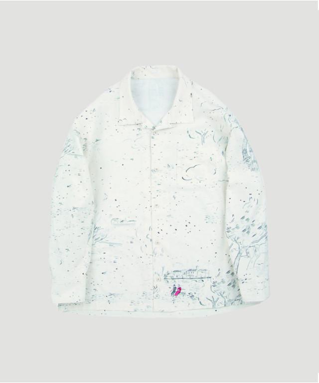 PORTER CLASSIC Aloha Long Shirt Django White PC-024-1183-90