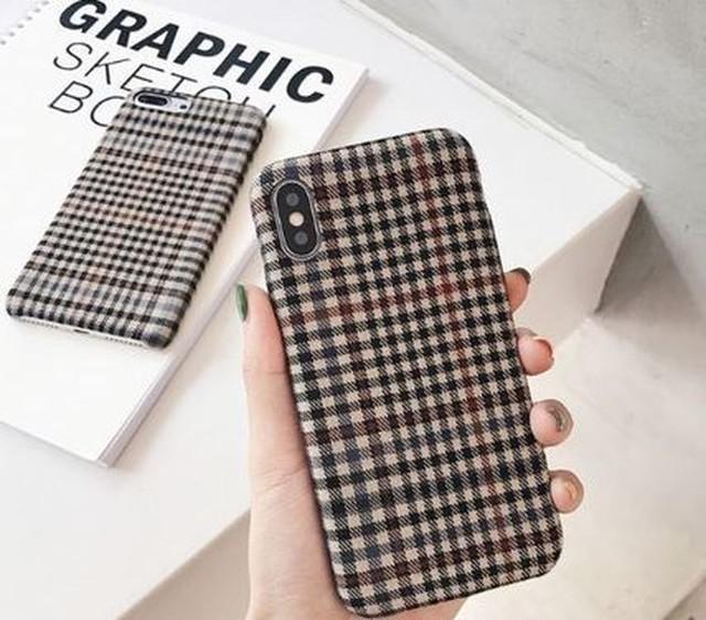 iPhoneX ケース iPhone8 7ケース カバー XS XR MAX チェック柄