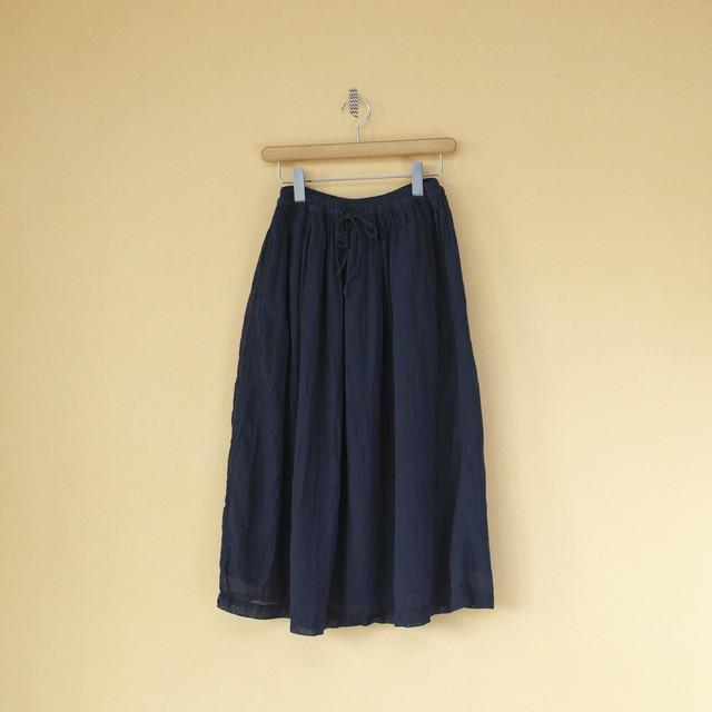 ARMEN アーメン 後染めユーティリティーイージーギャザースカート・3920:ネイビー:サイズ1