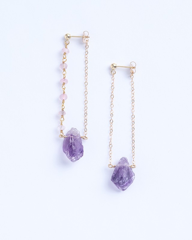 Serres / Amethyst w rose quartz