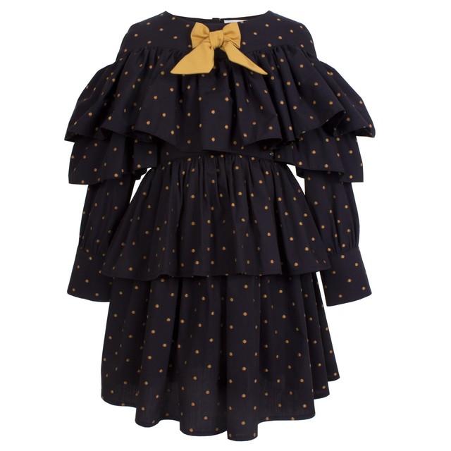 『予約販売』STELLA DRESS GOLD POLKA DOTS