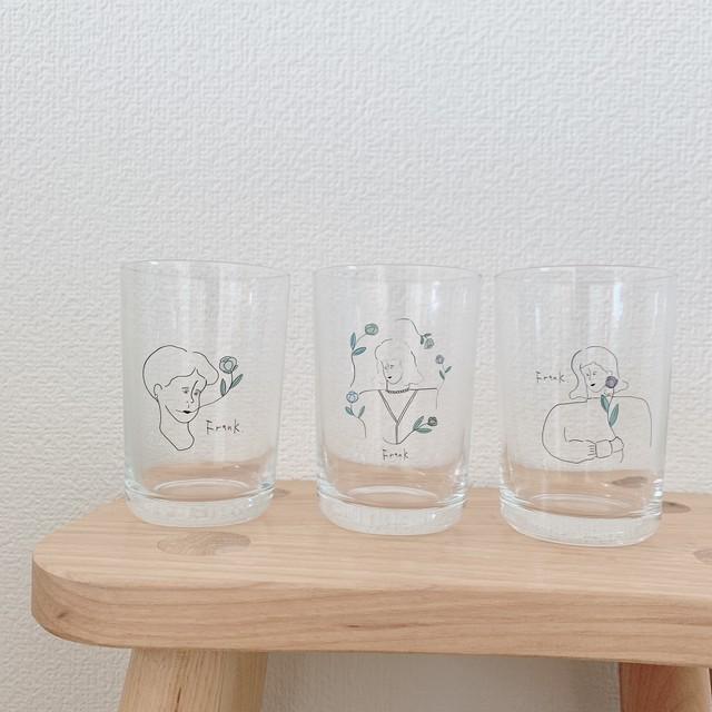 【Frank.× mamanaranaimai】オリジナルアートグラス3種