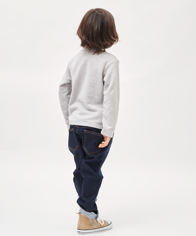 《made in Japan》 カレッジプリントミニ裏毛ロングT