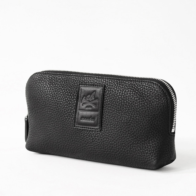 【M size】Leather Pouch Excela Zip エクセラファスナー使用 レザーポーチ crambox