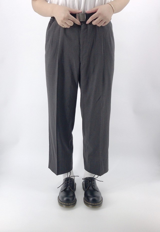 [used] dark grey straight slacks