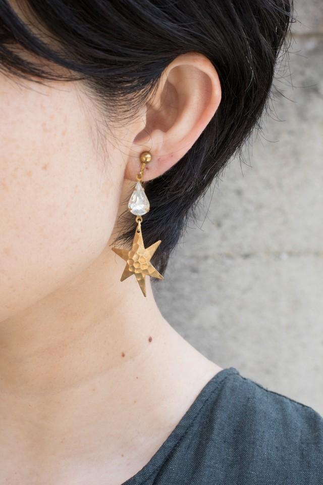 【TAMARI】Starglass short drop pierce / earring