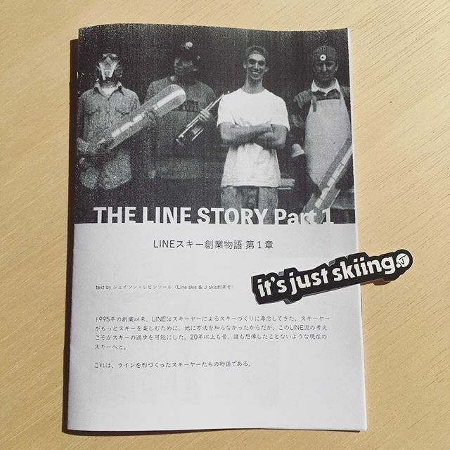 J skis - LINEスキー創業物語 第1章 ステッカー1枚付き