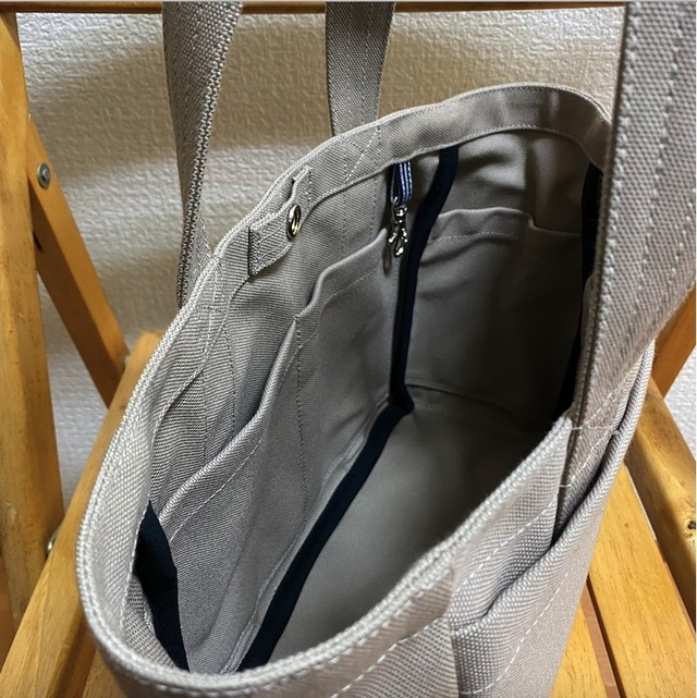 「ボックストート」小サイズ「ベージュ」帆布トートバッグ 和泉木綿帆布【受注制作】