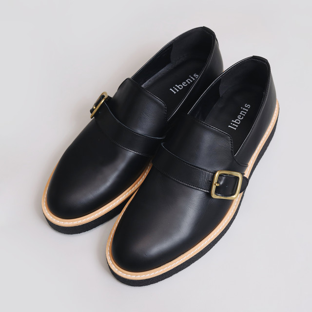 【libenis × MARSEE】Belted Leather Shoes 【再販予定あり】