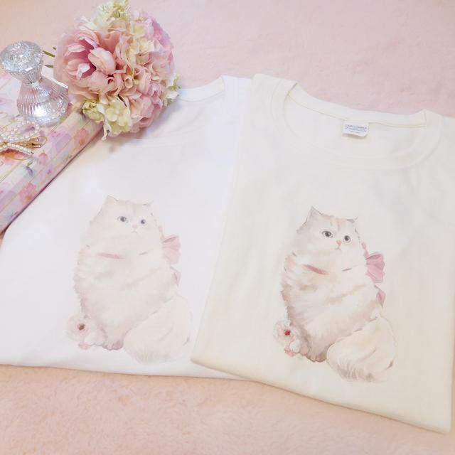 Ribbon Cat Tシャツ