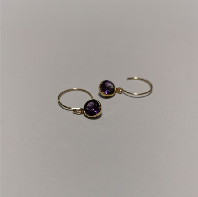 Amethyst 14kgf earrings