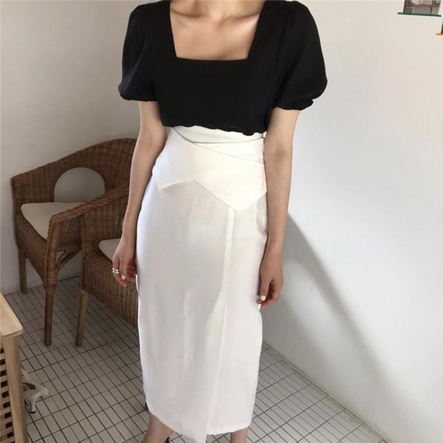 ハイウエストサマータイトスカート