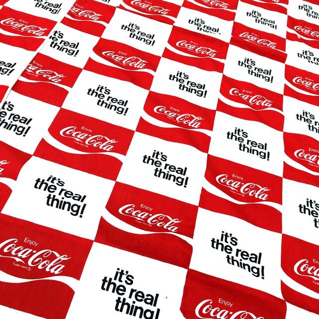 品番0709 coca cola  コカコーラ シーツ 『it's the real thing』 ビッグサイズ ヴィンテージ