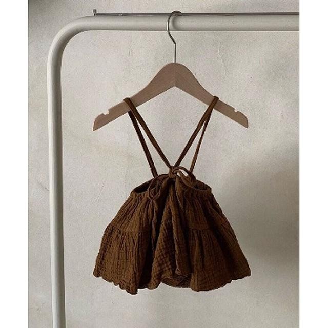 【お取り寄せ】monbebe suspenders skirt